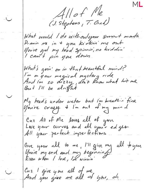 printable lyrics john legend all of me win handwritten quot all of me quot lyrics john legend