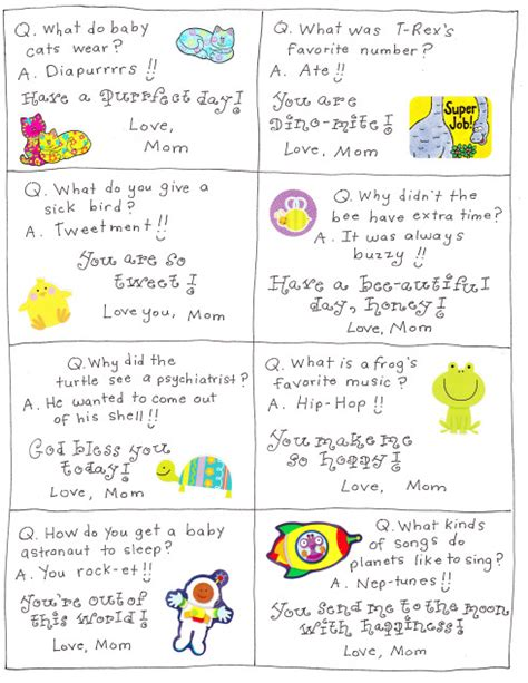 printable lunchbox notes jokes mommy and things lunch box jokes printables