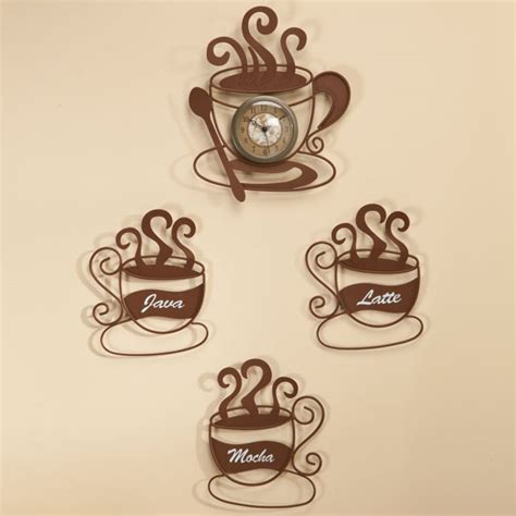 Coffee Cup Wall Decor by Metal Coffee Cup D 233 Cor Value Set Metal Wall
