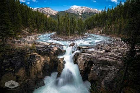 sunwapta falls canada s rocky mountains in the fall james udall