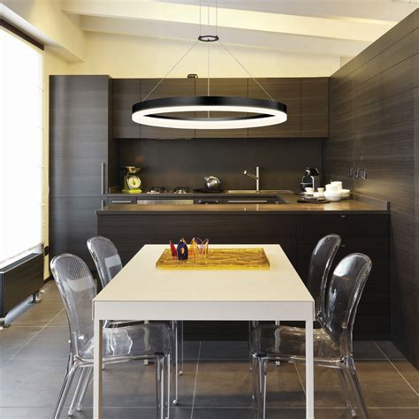 intelligent furniture products high tech circular kitchen linear led light ideal for office dinning room interior