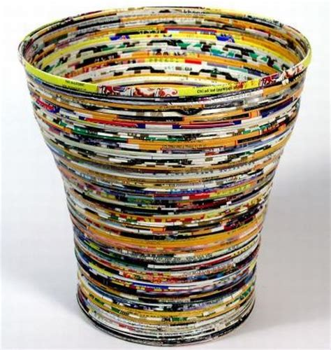 waste paper baslet how to recycle recycled waste paper basket