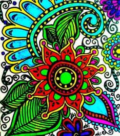 color doodle flower doodle color print prints colors and