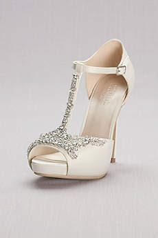 Sandal Wanita T Platform Heels Black 005 formal shoes for special occasions like prom and weddings david s bridal