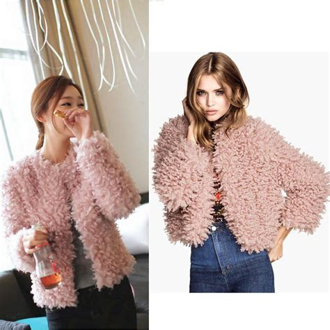 Coatjaket Azzura Pink Quality cheap fur coats for coat racks