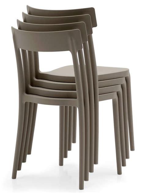 sedie color tortora 523 sedia impilabile in polipropilene disponibile in