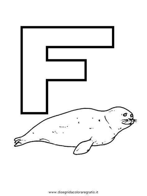 foto lettere alfabeto disegno alfabeto foca categoria alfabeto da colorare