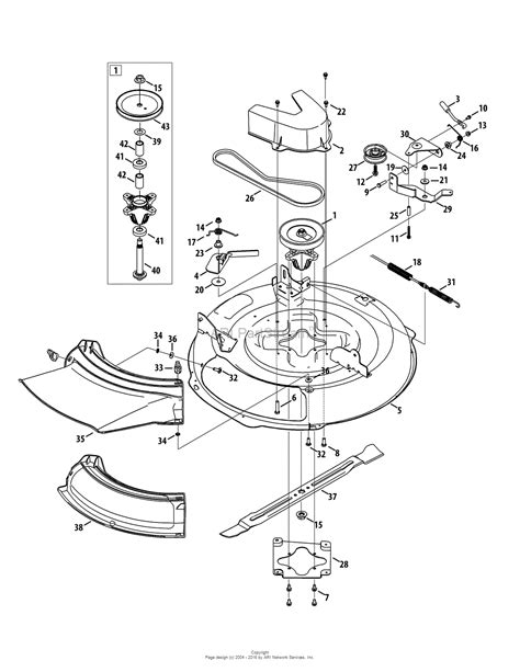 mtd mower deck diagram mtd 13ac26jd058 2015 parts diagram for mower deck