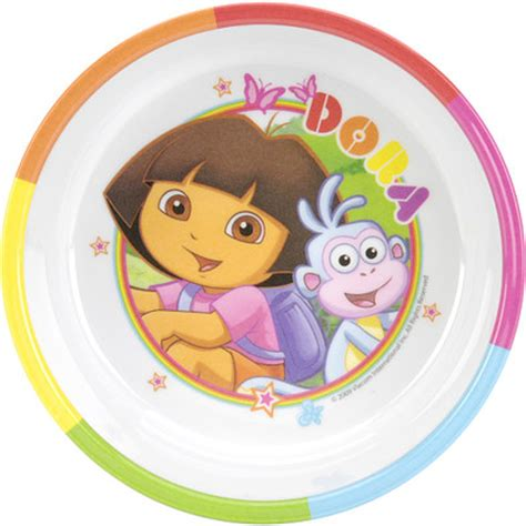 Furniture Kitchen Sets by Zak Nickelodeon Dora The Explorer Rimmed Bowl Amp Reviews