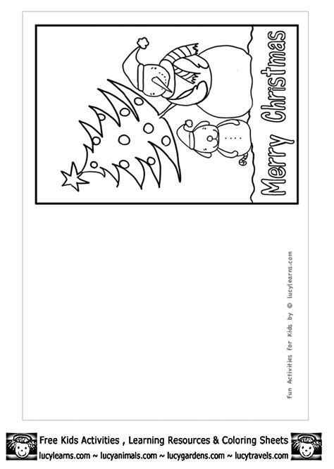 printable christmas cards for kids to color free printable christmas cards coloring pages murderthestout