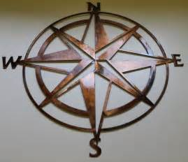 Compass Wall Decor by Nautical Compass Wall Decor Copper Bronze Plated