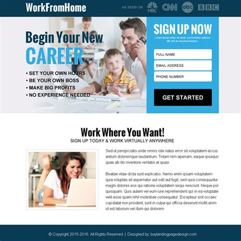 work from home ppv landing page design to earn money