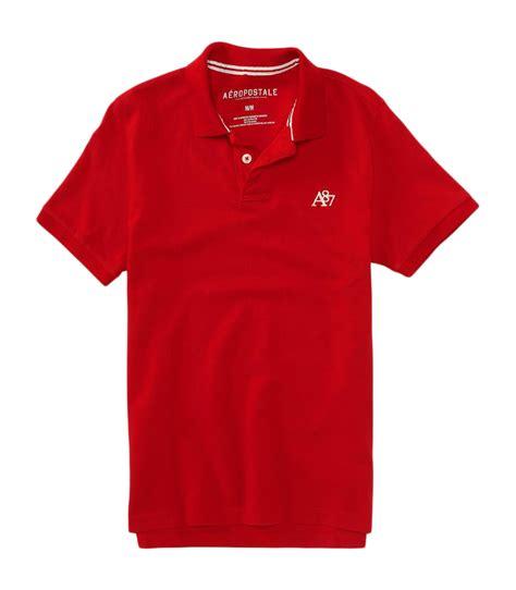 Polo Shirt One Logo 1 aeropostale mens a87 solid logo pique polo shirt ebay