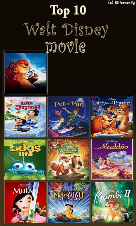 film disney recommended top 10 disney movies by makitokito on deviantart