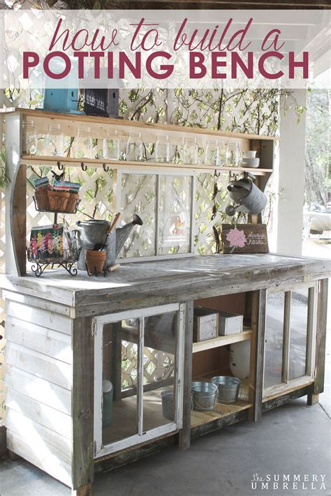 how to make a potting bench how to build a potting bench with reclaimed wood