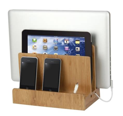 multi charging station bamboo multi charging station gadgets matrix
