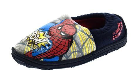 Spiderman Light Up Shoes Boys Marvel Spiderman Light Up Slippers Slip On Mules