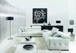 minimalist black and white living room furniture desig