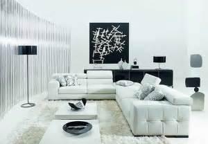 Minimalist black and white living room furniture ideas