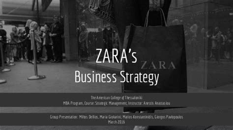 Business Strategy Syllabus For Mba by Zara S Business Strategy