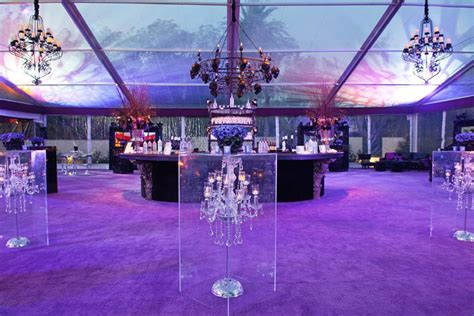 Chandelier Events Chandeliers Encased In Lucite Made For Eye Catching High Top Tables In The Bar Area Breeders