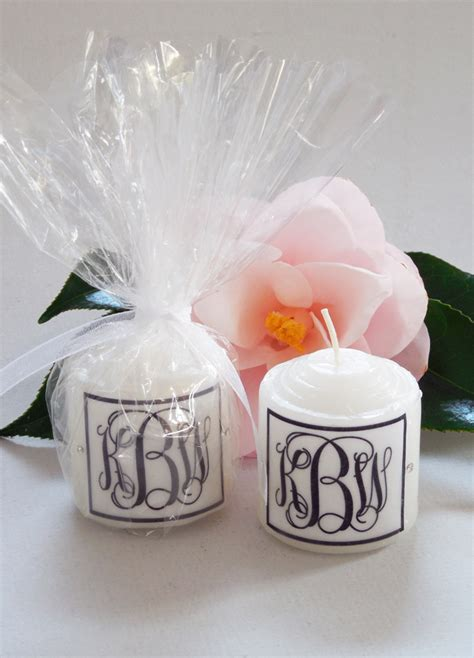Wedding Favors Candles by Monogram Swarovski Candle Wedding Favors 2 Designs