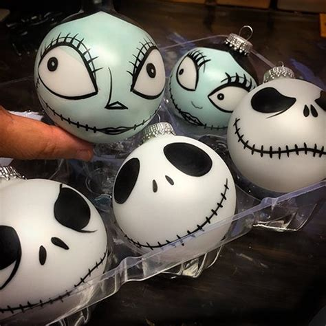 jack and sally christmas ornaments or sally nightmare before inspired painted
