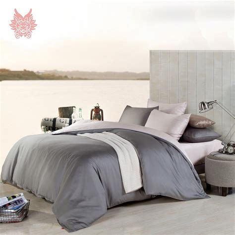 Solid Gray Comforter by Free Shipping Luxury Modal Tencel Bedding Sets Fitted