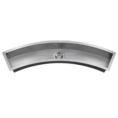 ticor undermount curved trough stainless steel kitchen