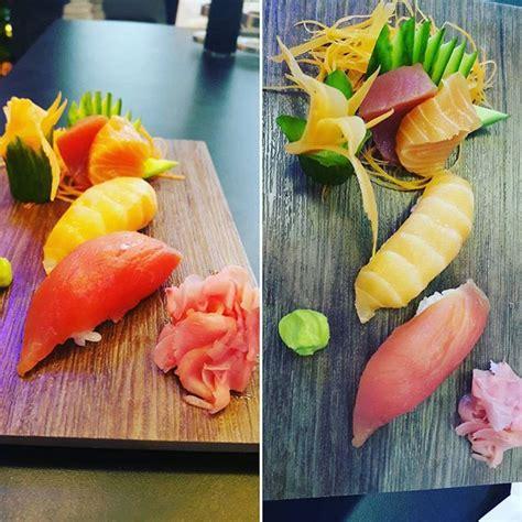 sashimi  nigiri   raw  salmon  tuna