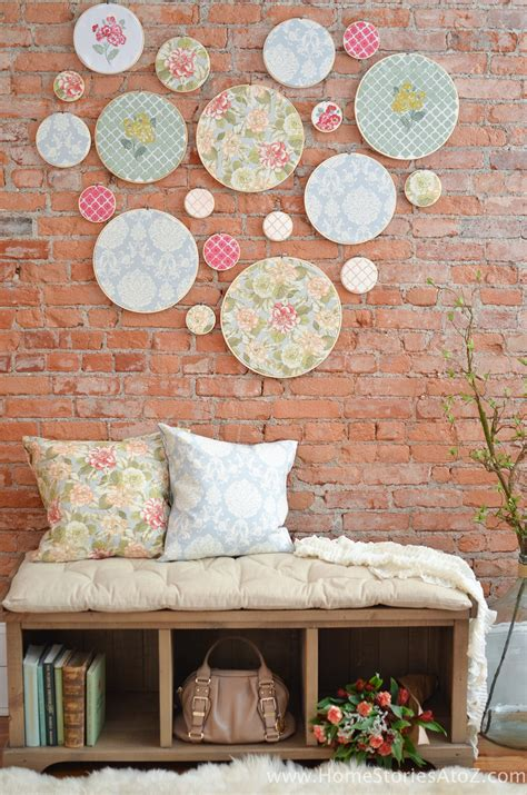 at home wall decor diy embroidery hoop wall art home stories a to z