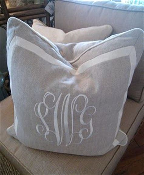 Monogrammed Pillows by Monogram Pillows Bedroom