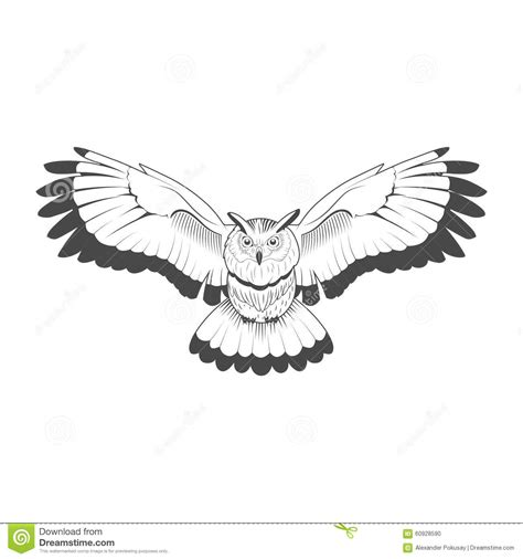 emblem black and white owl emblem black and white vector stock vector
