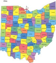 County Map Ohio by Ohio Map With Counties