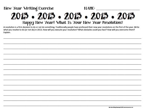 new year writing lesson search results for new year resolution worksheets