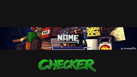 minecraft youtube banner best business template