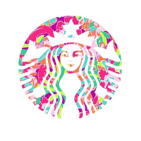 lilly pulitzer and starbucks starbucks lilly pulitzer decal lilly by customcreationsbycp