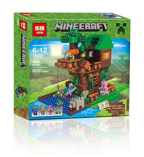 downtheblocks lepin 18009 minecraft treehouse with
