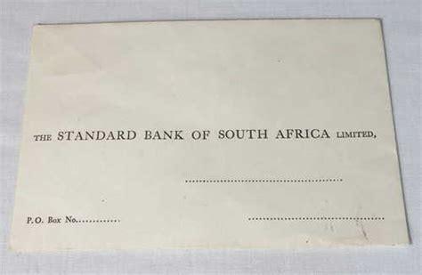Standard Bank Letterhead republic of south africa standard bank of south