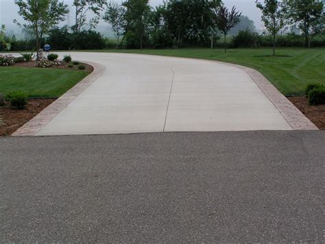 Concrete Driveway Design With Concrete L Andscape Sidewalk L Posts