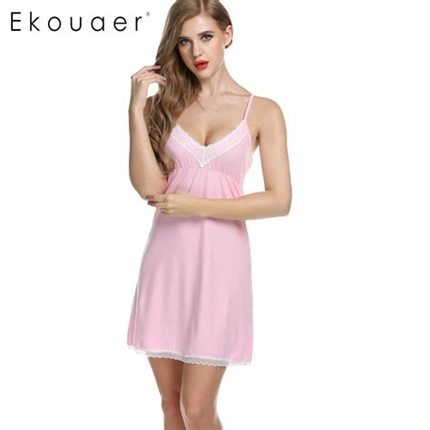 casual home ekouaer nightgowns cotton dress spaghetti