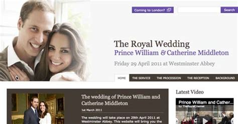 Wedding Channel Website by Brandchannel Royal Wedding Website Launches With Lack Of