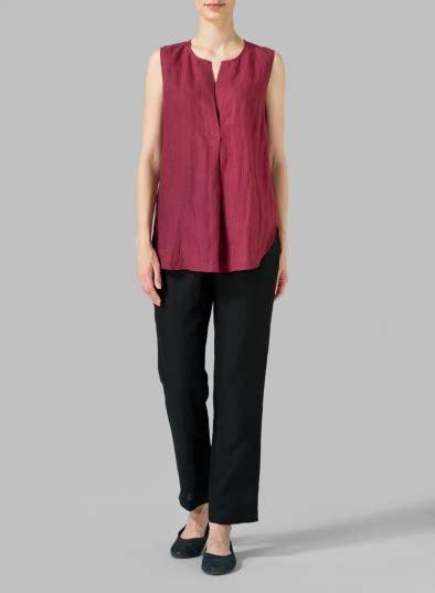 Blouse V Neck Linen linen surplice v neck blouse plus size