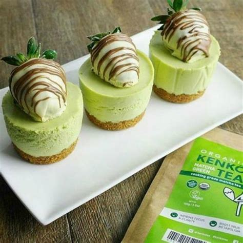 new year green tea cake matcha green tea mini cheesecake recipe no baked dessert