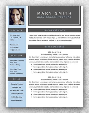 teaching cv template word resume template start professional resume templates for word