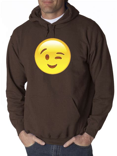 Wink Hodie new way 343 hoodie winking eye emoji smiley ebay