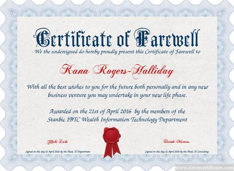 farewell certificate template 17 best images about award certificate templates on