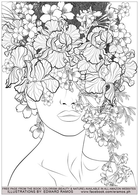 coloring pages for adults nature and nature edward ramos 7 anti stress