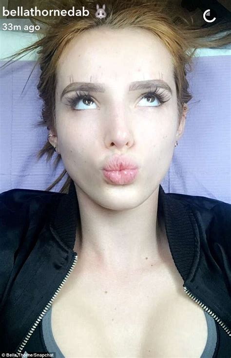 bella thorne gets her eyebrows tattooed in snapchat video