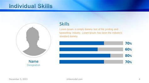 model company profile template employee skills powerpoint slide design slidemodel